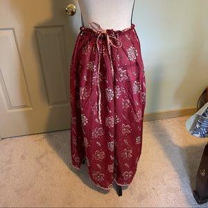 Gudrun Sjöden burgundy printed skirt L/XL new